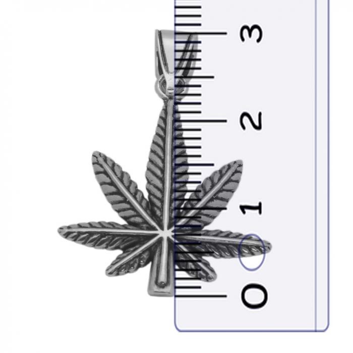 Pandantiv argint 925 oxidat frunza de marijuana PSX0629 1