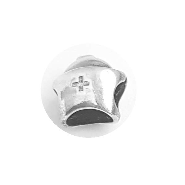 Pandantiv argint 925 cruce cu aspect vintage pentru bratara tip charm PAN0483 0