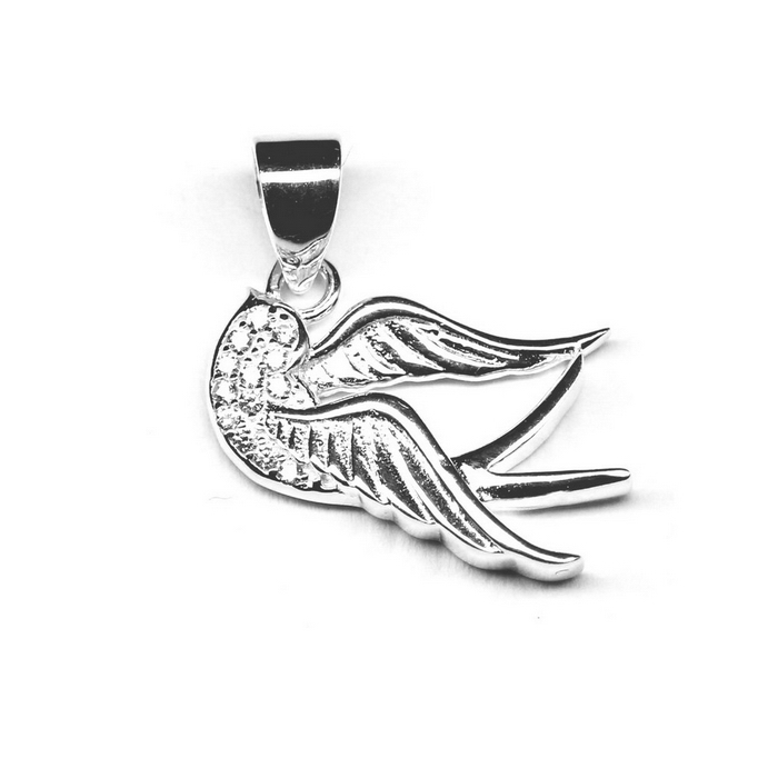 Pandantiv argint 925 porumbel cu zirconii PAN0531 0