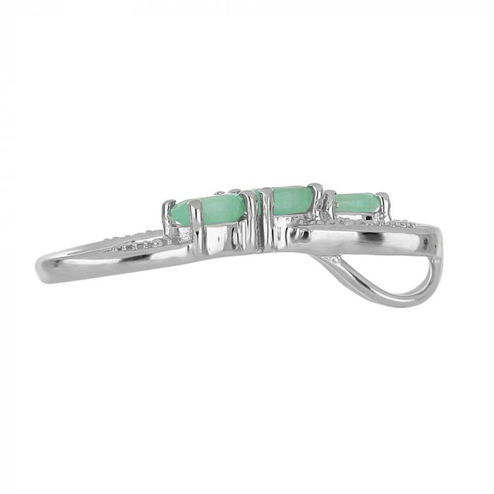 Pandantiv argint Infinity cu Emerald - PVA0010 1