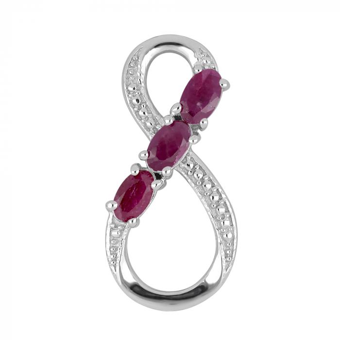 Pandantiv argint Infinity cu rubin - PVA0011 0