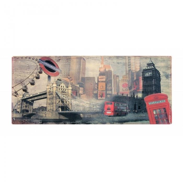 Portbancnota piele ecologica Londra PBA09 Multicolor 0
