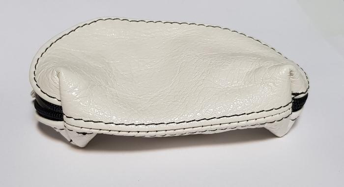 Portchei piele naturala Alb pentru chei lungi PCH73 0