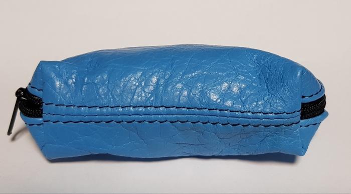 Portchei piele naturala Bleu pentru chei lungi PCH77 0