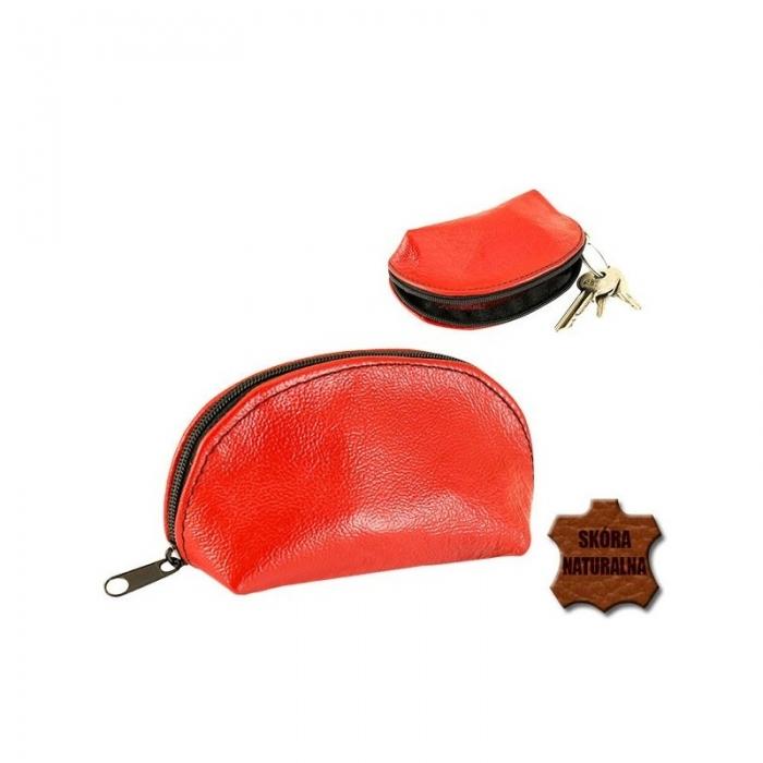 Portchei piele naturala Magenta pentru chei lungi PCH71 4