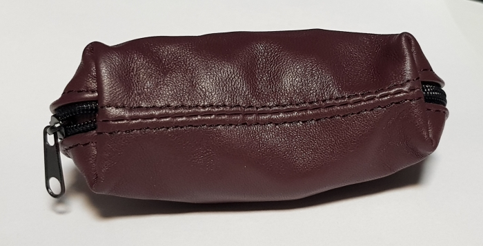 Portchei piele naturala Maron pentru chei lungi PCH70 3