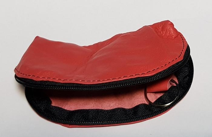 Portchei piele naturala Magenta pentru chei lungi PCH71 1