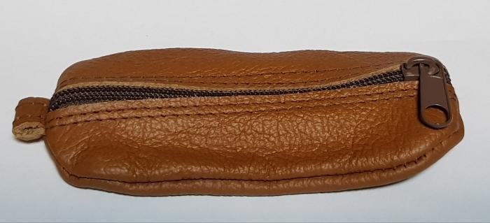 Portchei piele naturala Maron pentru chei lungi PCH65 1