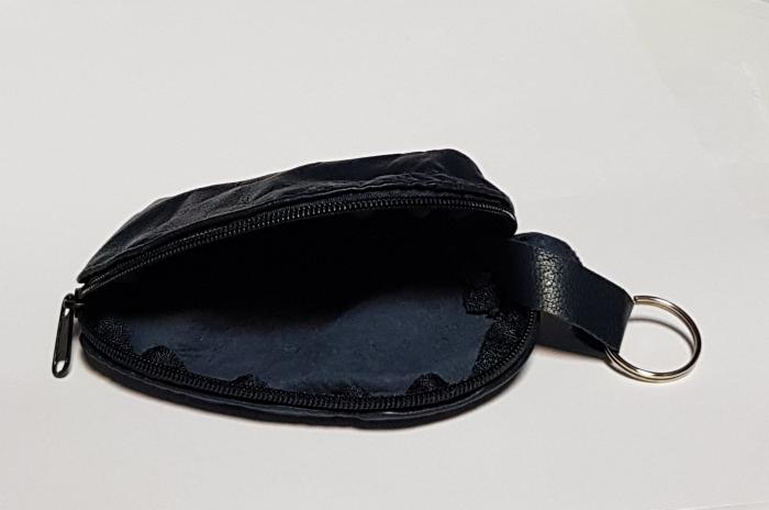 Portchei piele naturala Negru pentru chei lungi PCH68 2