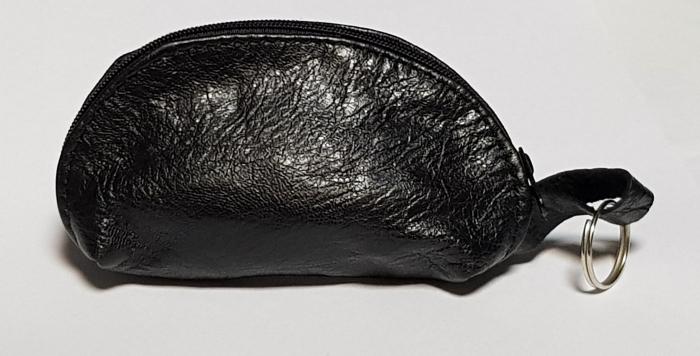 Portchei piele naturala Negru pentru chei lungi PCH68 0