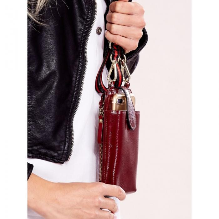Portdocument (mini-borseta de umar) cu husa telefon din piele ecologioca (PU)   BOR10 9