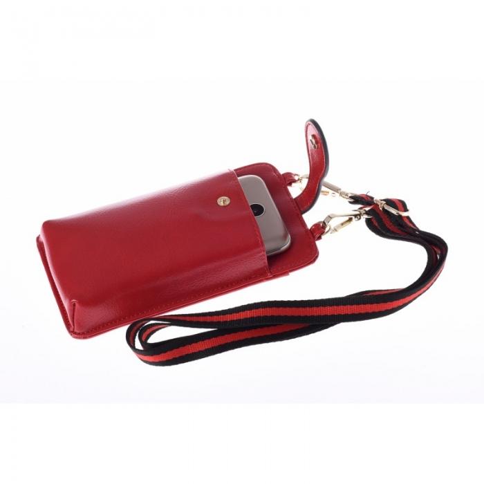 Portdocument (mini-borseta de umar) cu husa telefon din piele ecologioca (PU)   BOR10 4