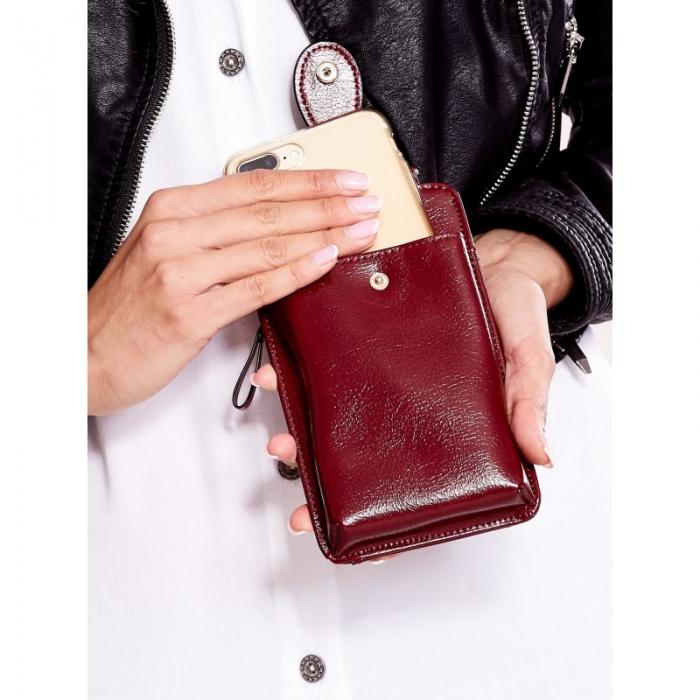 Portdocument (mini-borseta de umar) cu husa telefon din piele ecologioca (PU)   BOR10 7