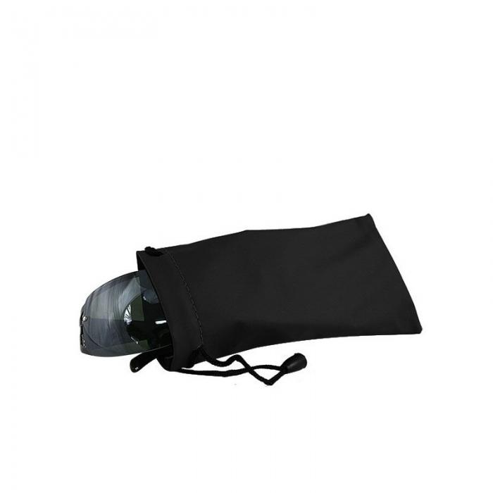 Toc ochelari (husa) piele ecologica Negru cu snur - POC07 0