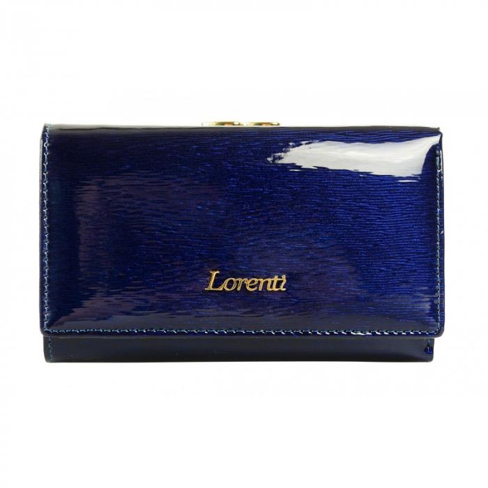 Portofel dama piele naturala Lorenti PORTG411 Albastru, cu RFID [0]