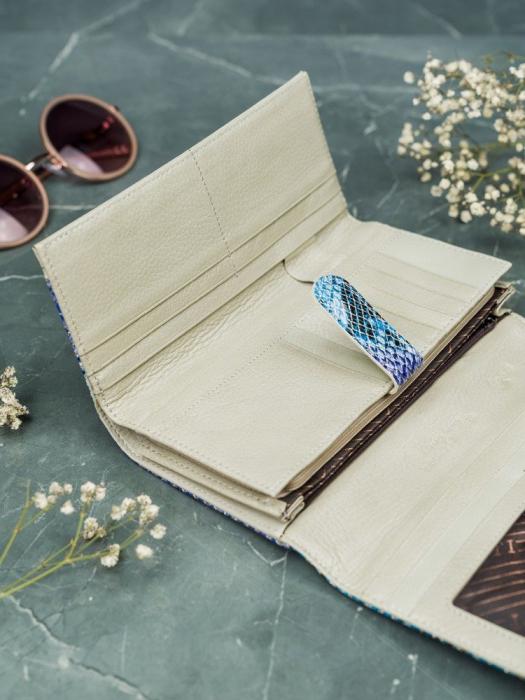 Portofel de lux pentru dama din piele naturala PORTG005 model sarpe 10