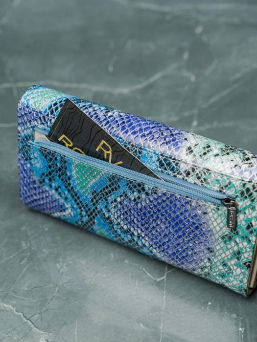 Portofel de lux pentru dama din piele naturala PORTG005 model sarpe 12