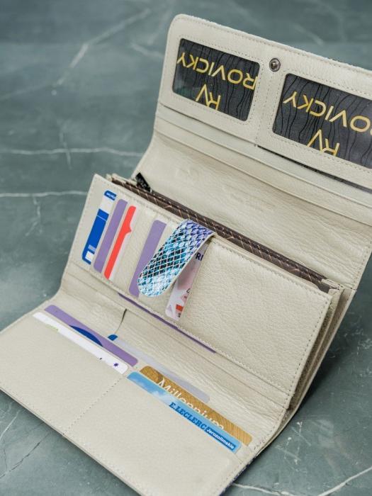 Portofel de lux pentru dama din piele naturala PORTG005 model sarpe 15