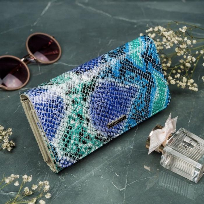 Portofel de lux pentru dama din piele naturala PORTG005 model sarpe 2