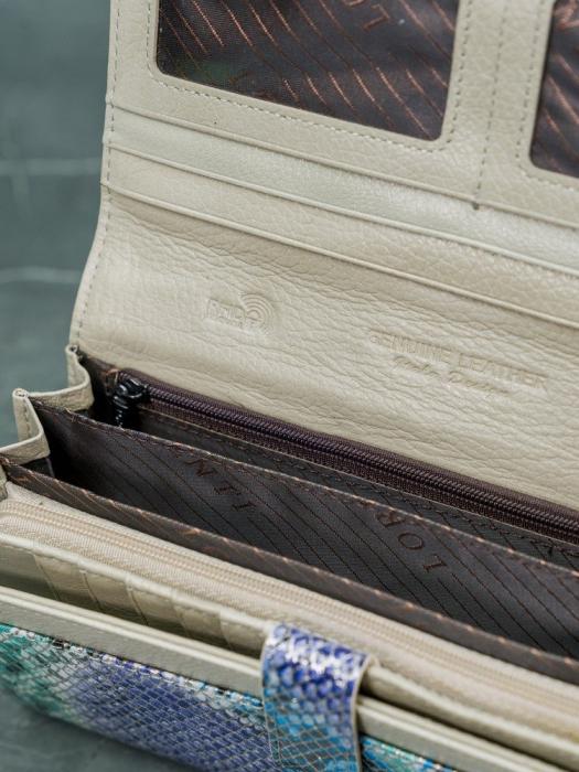 Portofel de lux pentru dama din piele naturala PORTG005 model sarpe 11