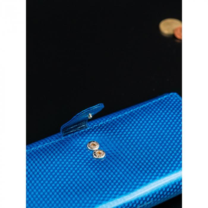 Portofel de lux pentru dama din piele naturala PORTG426, Albastru, Rovicky [8]