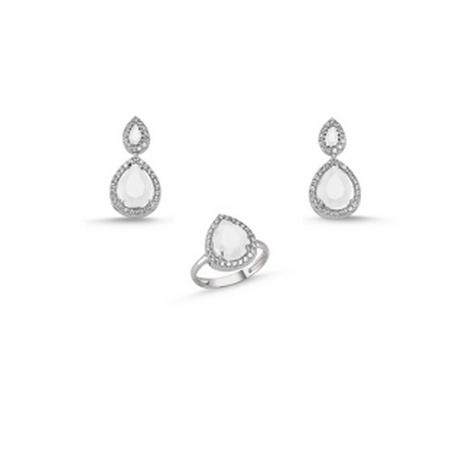 Set argint 925 rodiat cu zirconii albe - Be Elegant STU0033 0