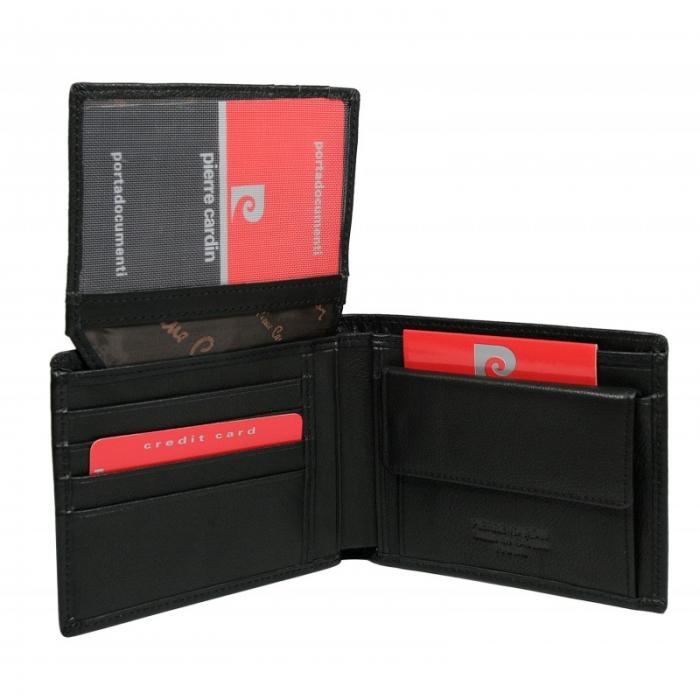Set cadou barbati din piele naturala (portofel + curea) Pierre Cardin PORM800 2