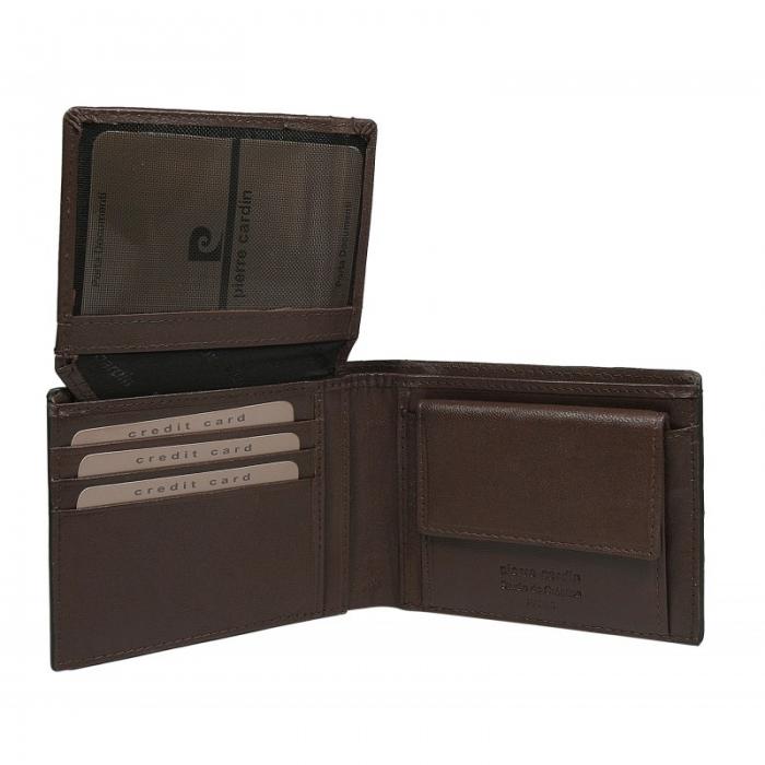 Set cadou barbati din piele naturala (portofel + curea) Pierre Cardin PORM801 3