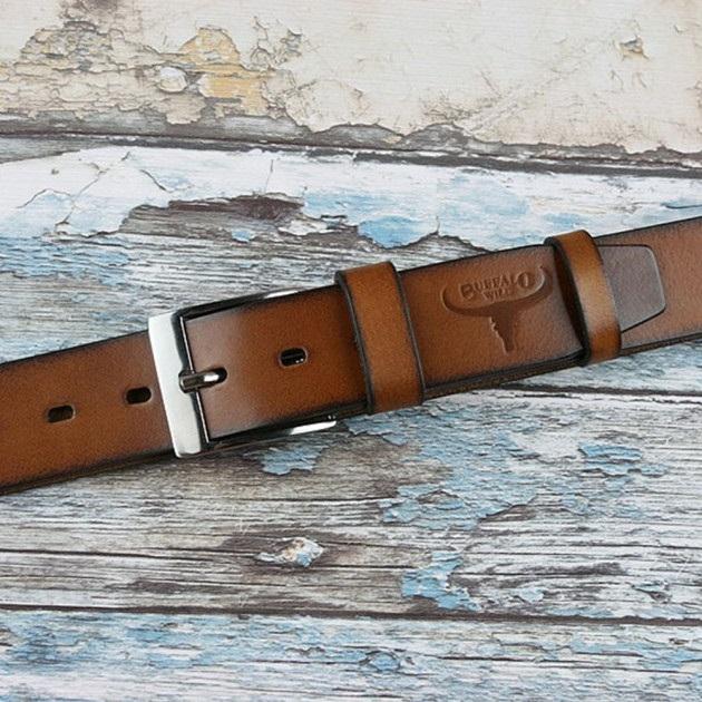 Set cadou barbati (portofel + curea) din piele naturala Wild BuffalOPORM636 7
