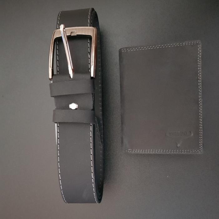 Set cadou barbati Wild BuffalO, portofel si curea din piele naturala, PORMG900 12