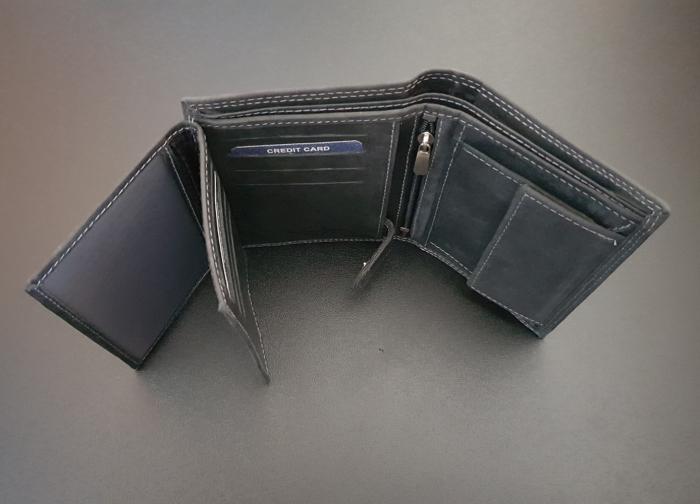 Set cadou barbati Wild BuffalO, portofel si curea din piele naturala, PORMG900 2