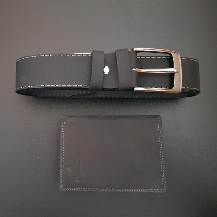 Set cadou barbati Wild BuffalO, portofel si curea din piele naturala, PORMG900 15