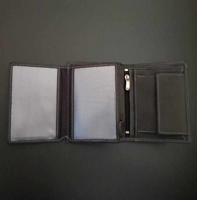 Set cadou barbati Wild BuffalO, portofel si curea din piele naturala, PORMG900 9