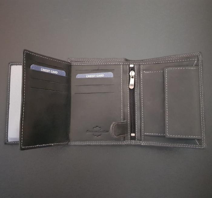 Set cadou barbati Wild BuffalO, portofel si curea din piele naturala, PORMG900 10