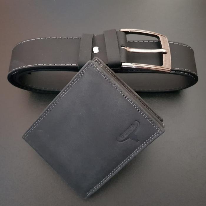 Set cadou barbati Wild BuffalO, portofel si curea din piele naturala, PORMG902 15