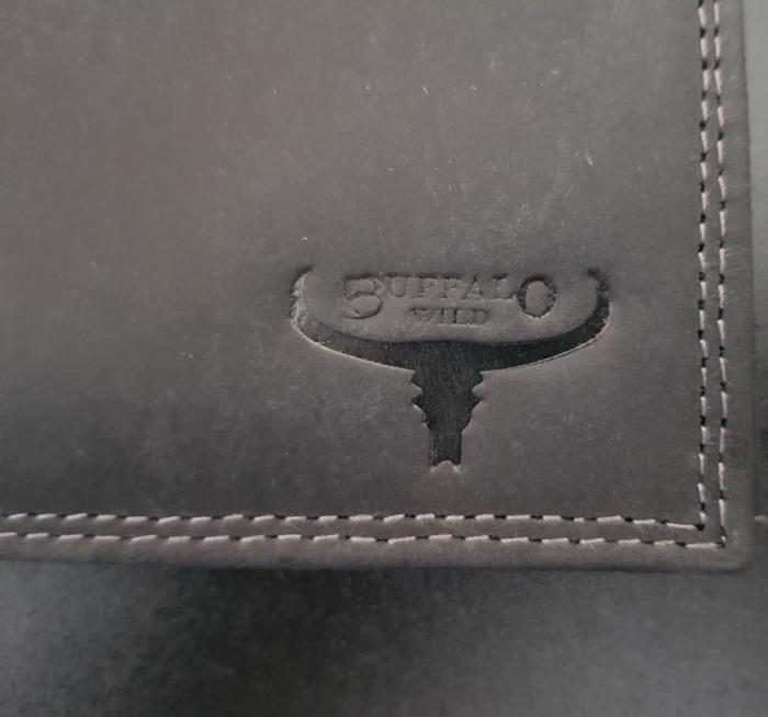Set cadou barbati Wild BuffalO, portofel si curea din piele naturala, PORMG902 22
