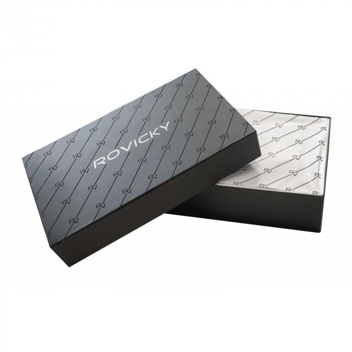 Set cadou barbati, portofel si curea din piele naturala, Rovicky, PORMG905, cu RFID 14
