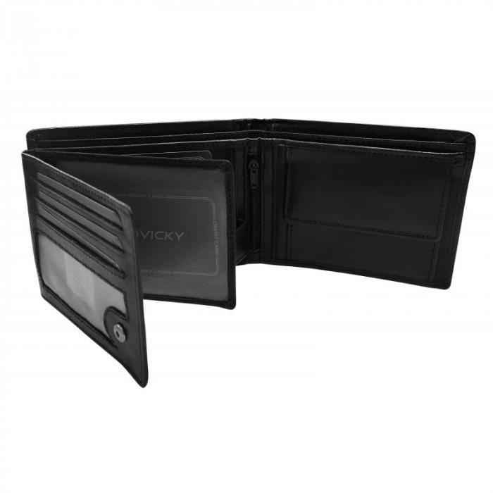 Set cadou barbati, portofel si curea din piele naturala, Rovicky, PORMG905, cu RFID 4