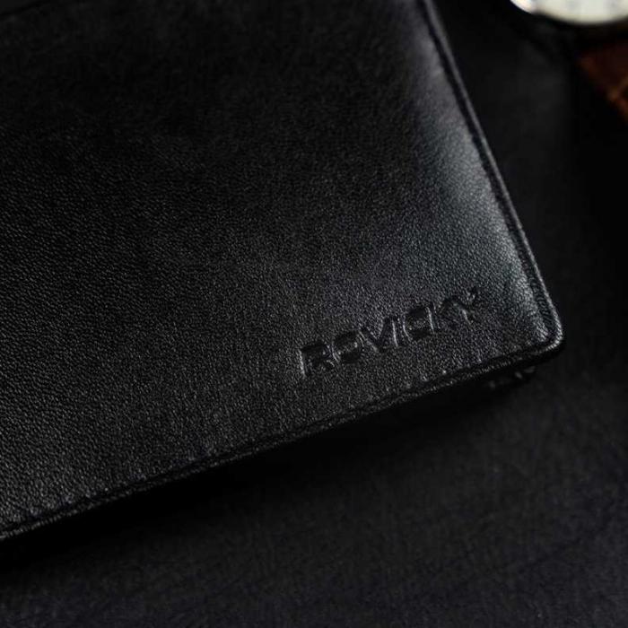 Set cadou barbati, portofel si curea din piele naturala, Rovicky, PORMG905, cu RFID 9
