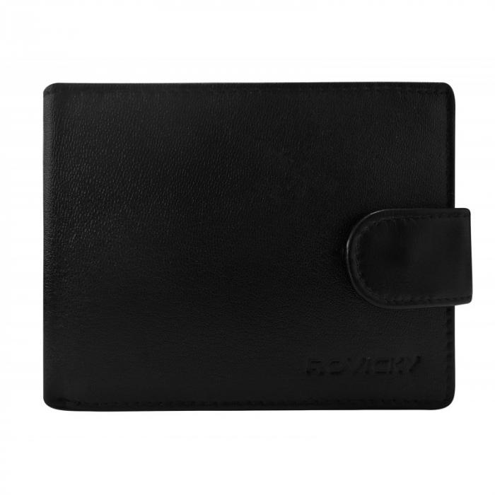 Set cadou barbati, portofel si curea din piele naturala, Rovicky, PORMG903, cu RFID 1