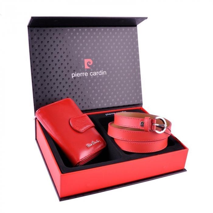 Set cadou dama Pierre Cardin, portofel si curea din piele naturala, PORMG1000 [2]