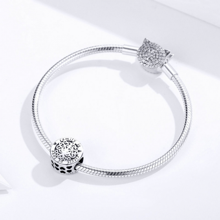 Talisman argint cu copacul vietii si mesaj de dragoste 3