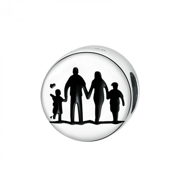 Talisman argint cu Familie Unita 0