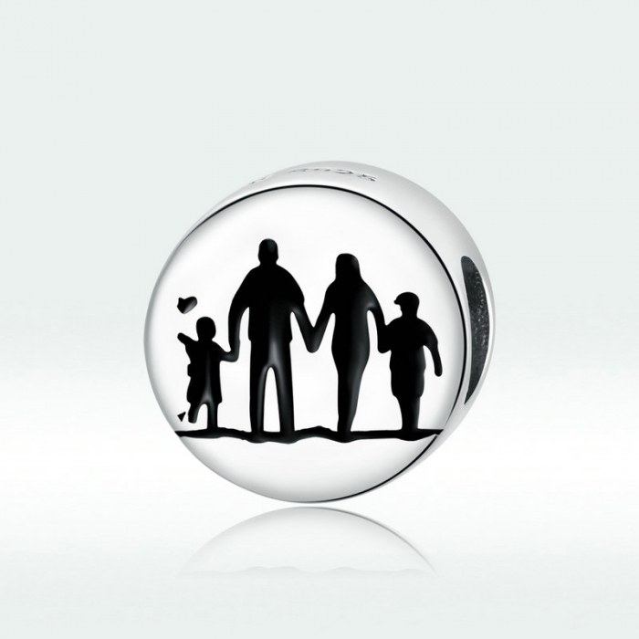 Talisman argint cu Familie Unita 4