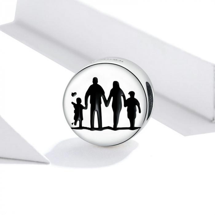 Talisman argint cu Familie Unita 2