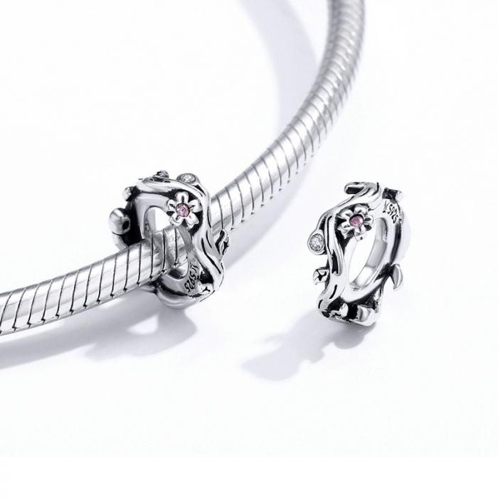 Talisman argint cu flori de cires [1]