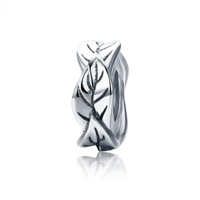 Talisman argint cu frunze 0