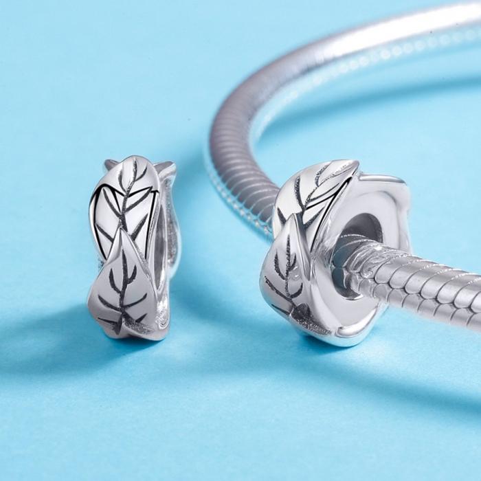Talisman argint cu frunze 3