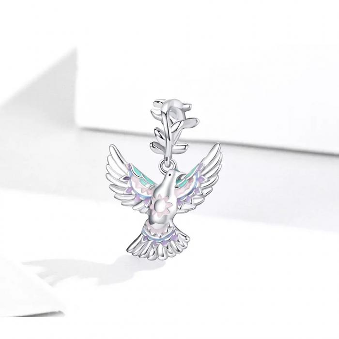 Talisman argint cu porumbelul pacii [4]