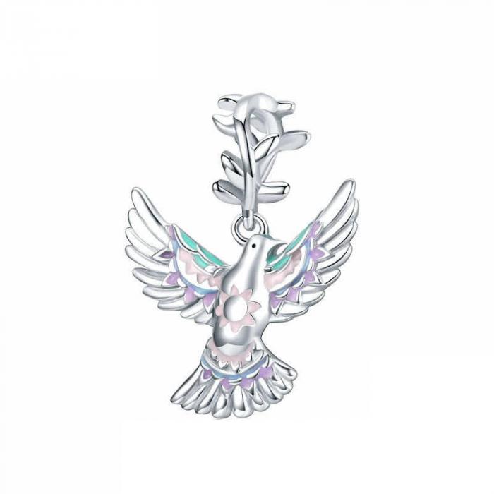 Talisman argint cu porumbelul pacii [0]